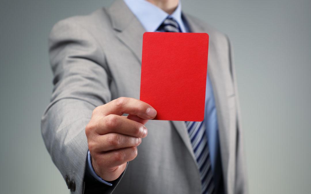 discipline red card